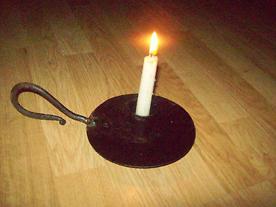 Hand Held Old Vintage Candle Holder Iron Hand Forged